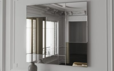 7 panel mixed  tinted mirrors creating a subtle  but stunning mirror