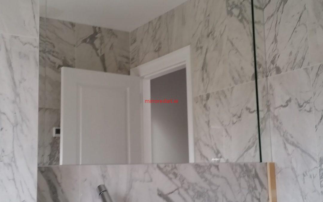 Full wall main bathroom mirror. Landsdowne Dublin 2.