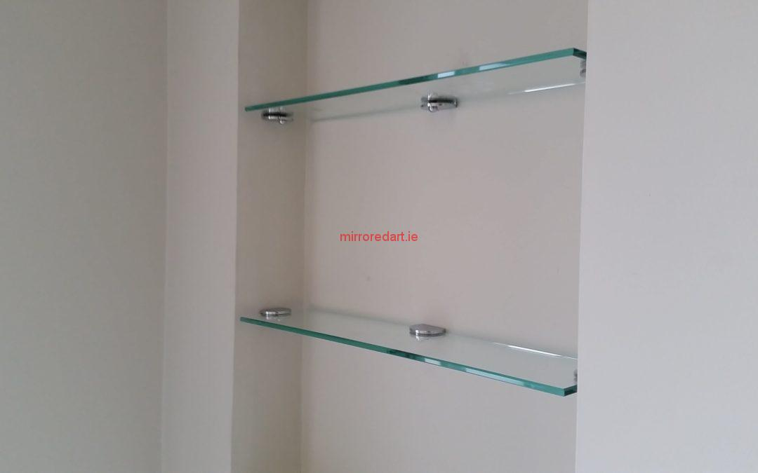 Made to measure Glass shelves for a house in Stepaside park.