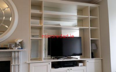 Mirrored bookshelves  Lucan