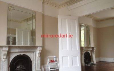 Two matching bevelled framed mirrors for a house in Kenilworth square  Rathmines  Dublin.