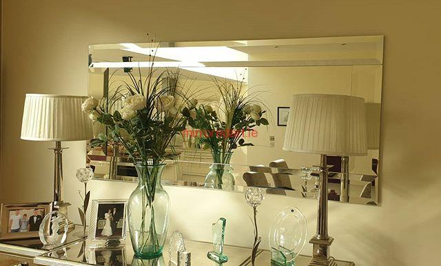 One of our made to measure pure bevelled framed mirrors 1.9 meters wide ,Greenlea drive Terenure Dublin.